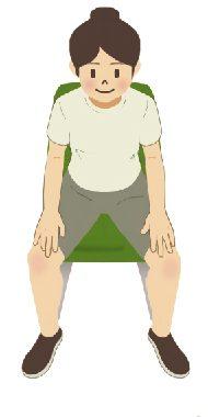 【すぐできる】股関節のリハビリ体操「椅子に座って行う体操その3」-2