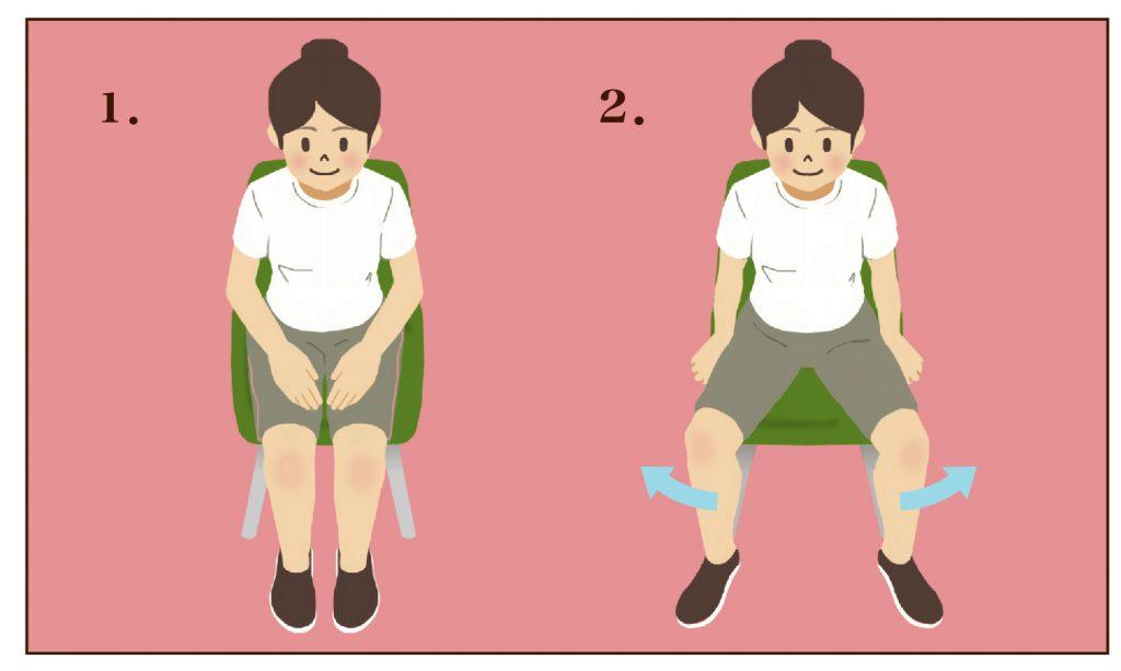 【すぐできる】股関節のリハビリ体操「椅子に座って行う体操その3」